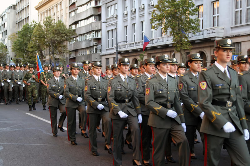 Military Cadets stock image