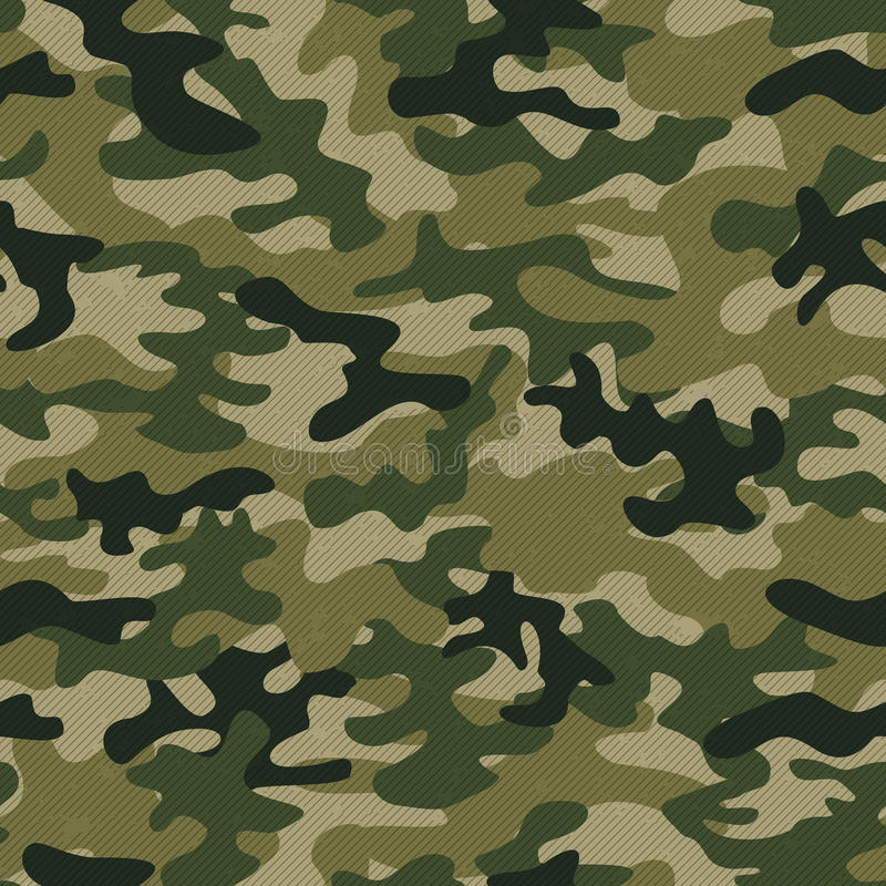 Free Military Camo Seamless Pattern. Vector Background For Your Design. Royalty Free Stock Image - 95902696