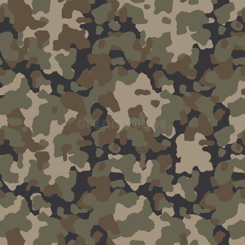 Free Military Camouflage, Texture Repeats Seamless. Camo Vector Pattern For Army Clothing. Stock Photography - 175007452