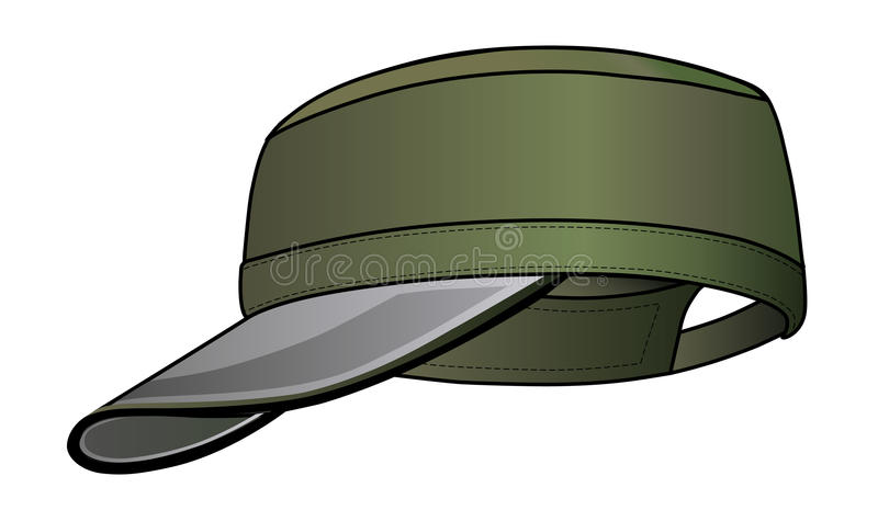 Download Military cap stock vector. Image of head, canvas, isolated - 11964469