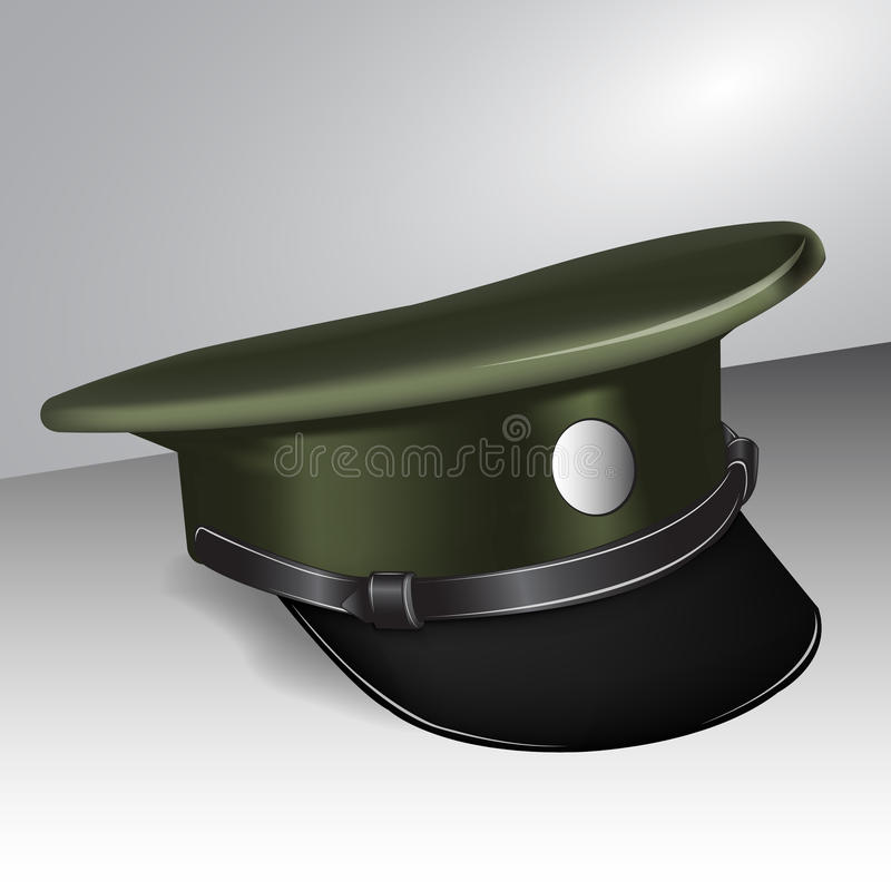 Download Military cap stock vector. Illustration of front, clothing - 23755158