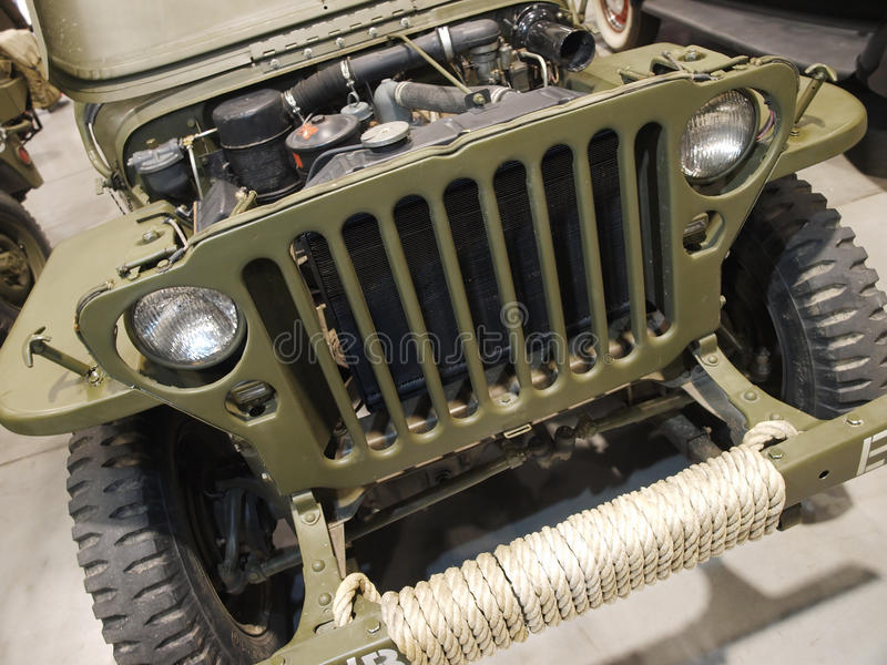 Military car stock photo