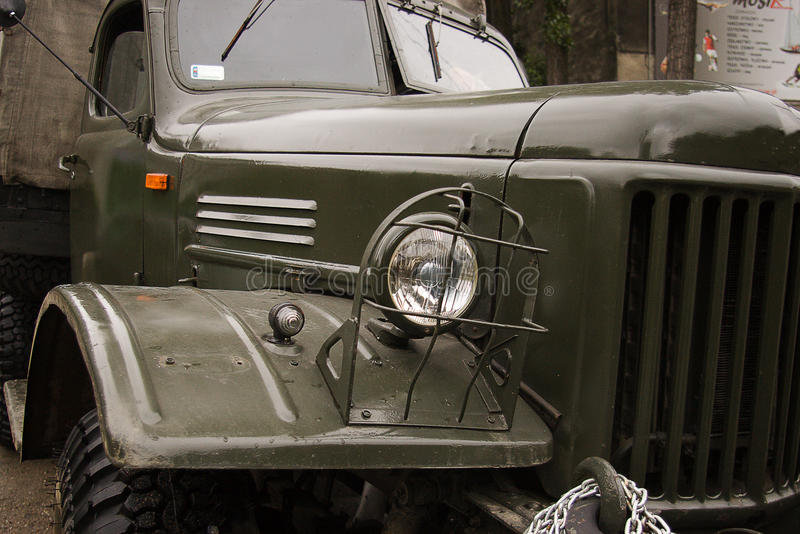 Military cars stock photography
