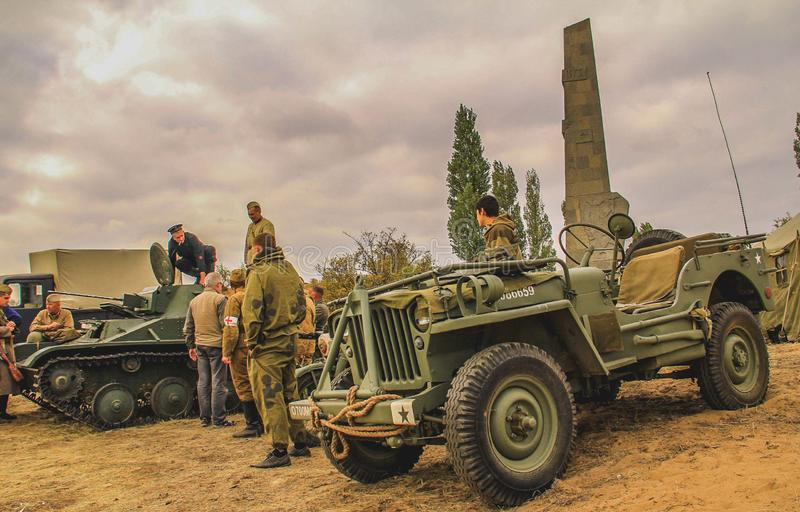 Military cars and vehicles royalty free stock images
