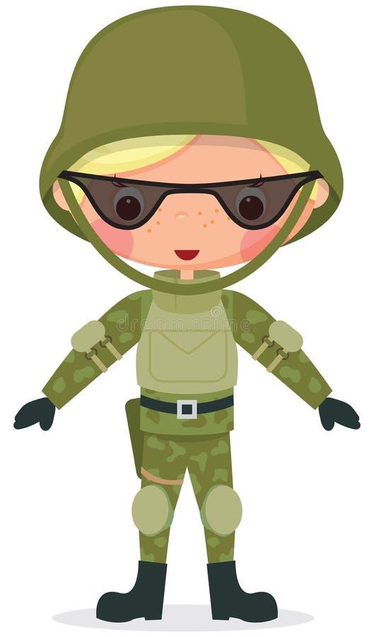 Download Military cartoon boy stock vector. Illustration of guard - 27695467