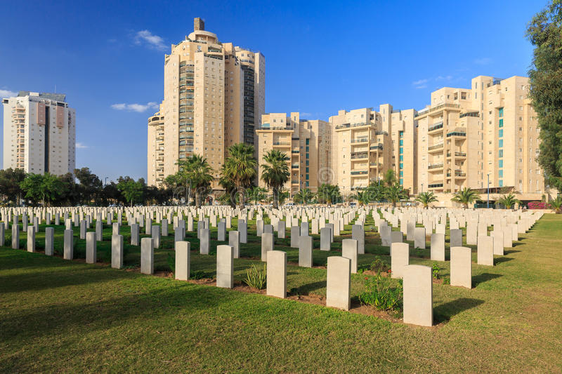 Military cemetery of Australian cavalry corps in Beer Sheba who are died at First World War royalty free stock photos