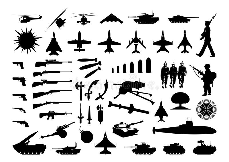 Military collection stock illustration