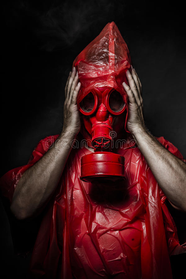 Download Military Concept, Man With Red Gas Mask. Stock Photo - Image: 32393534