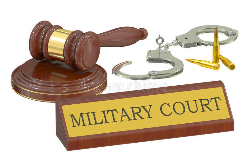 Military court concept royalty free illustration