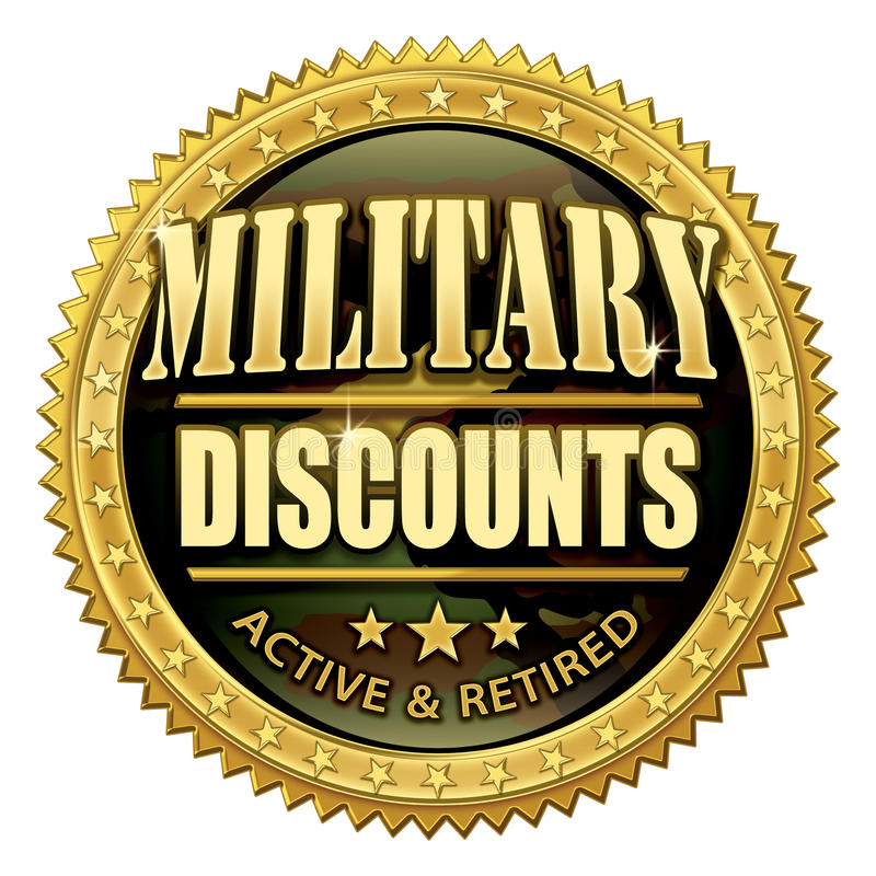 Free Military Discount Seal Royalty Free Stock Images - 14391989