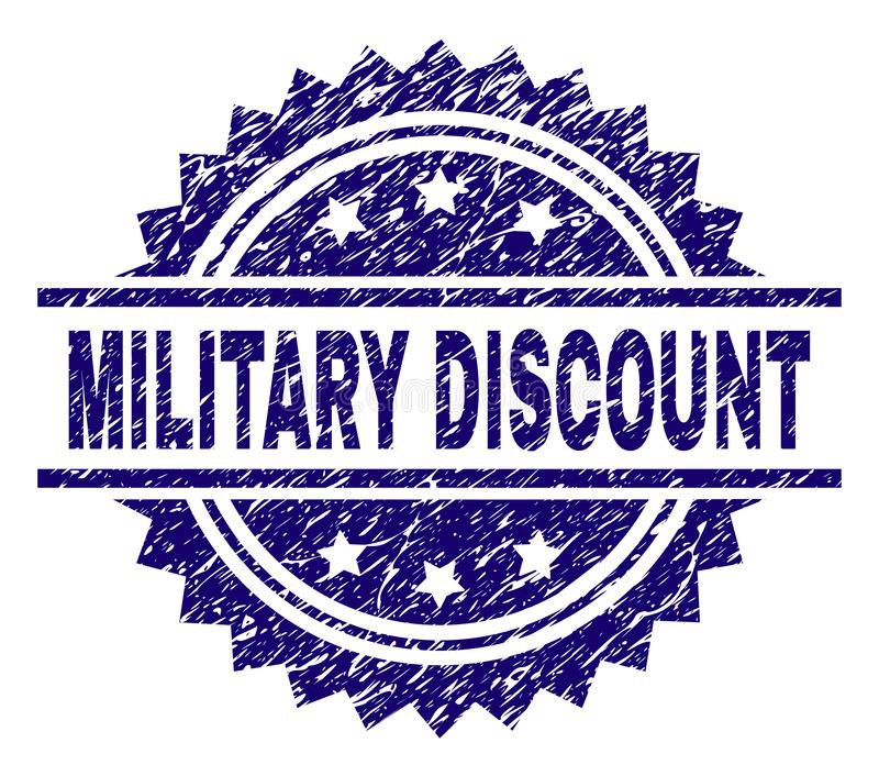Scratched Textured MILITARY DISCOUNT Stamp Seal royalty free illustration