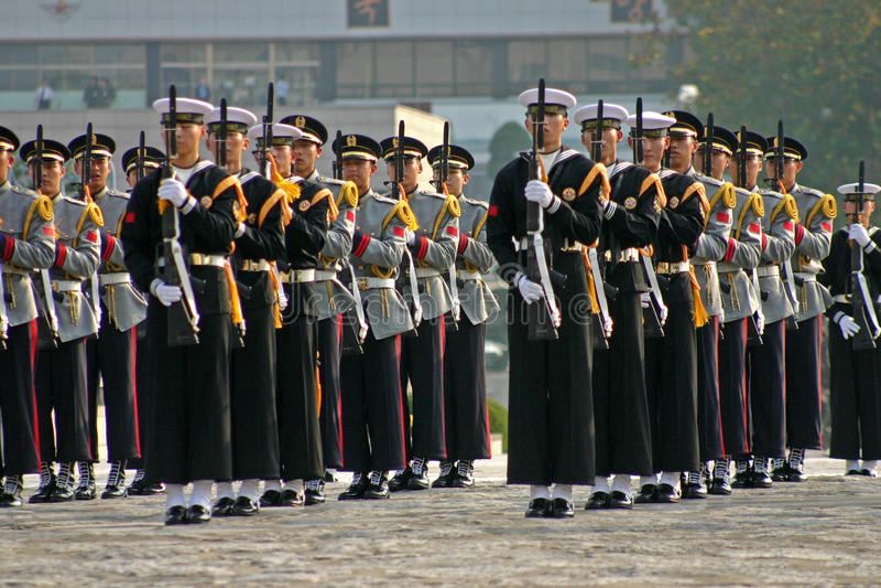 Military display, Seoul, South Korea stock photography