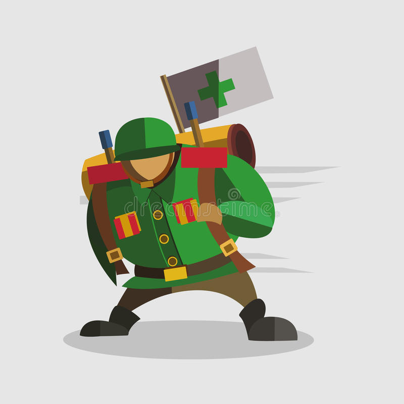 Military doctor cartoon icon great for any use. Vector EPS10. Military Robot doctor cartoon icon great for any use. Vector EPS10 stock illustration