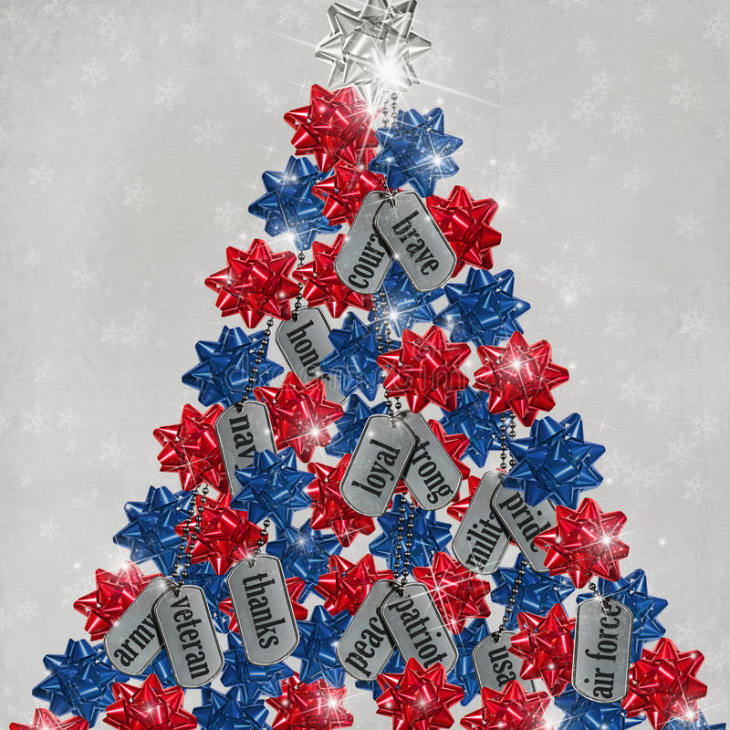 Free Military Dog Tag Christmas Tree Royalty Free Stock Images - 17207859