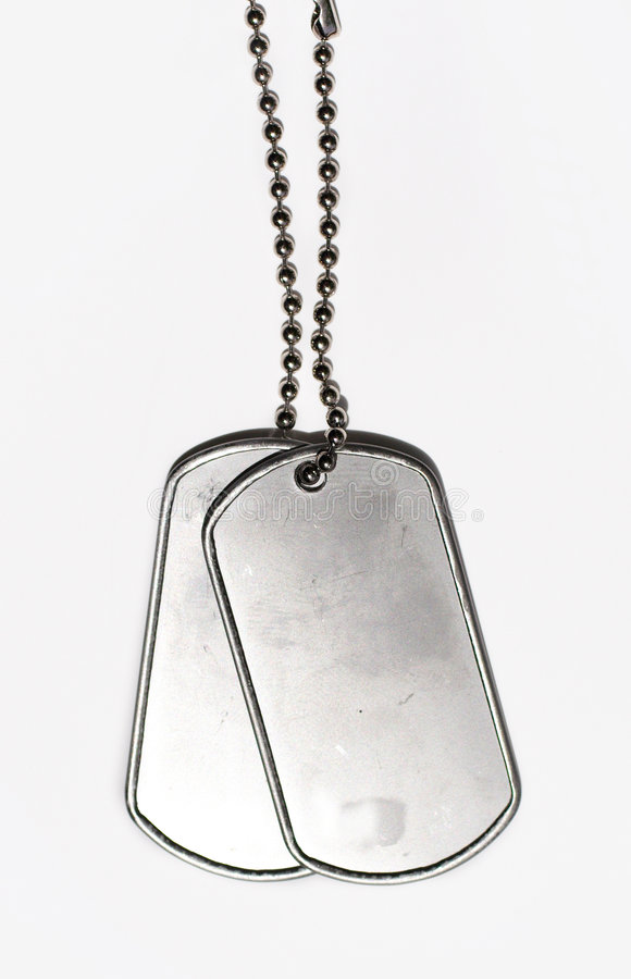 Military dog tags ID royalty free stock image