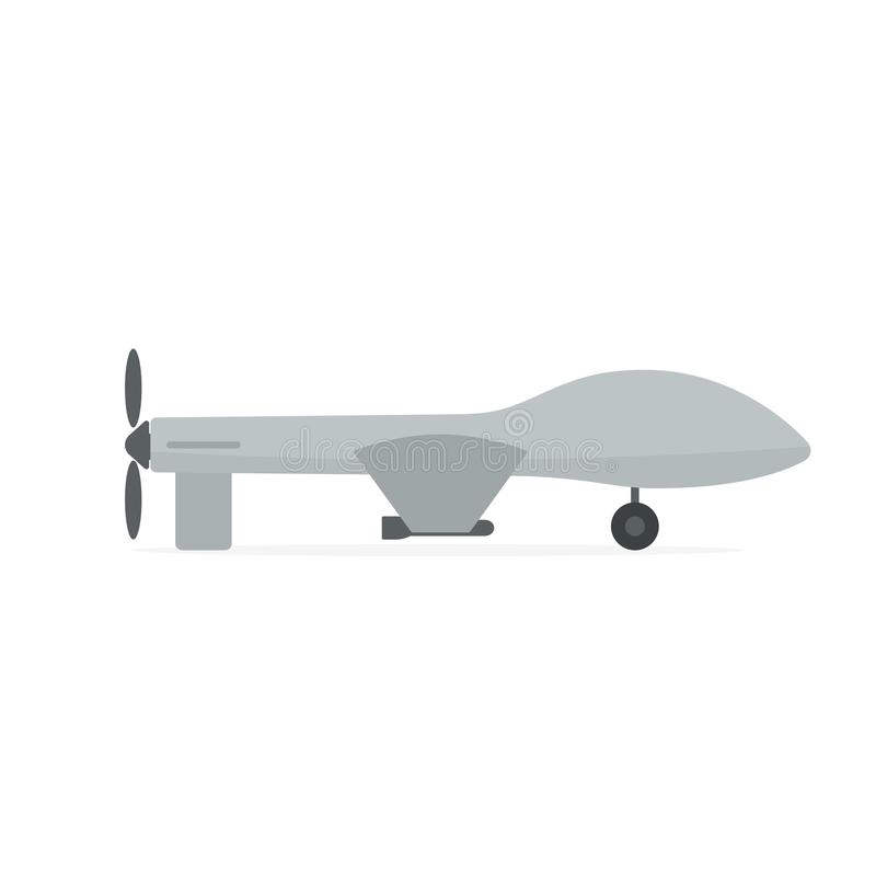 Military drone icon vector illustration