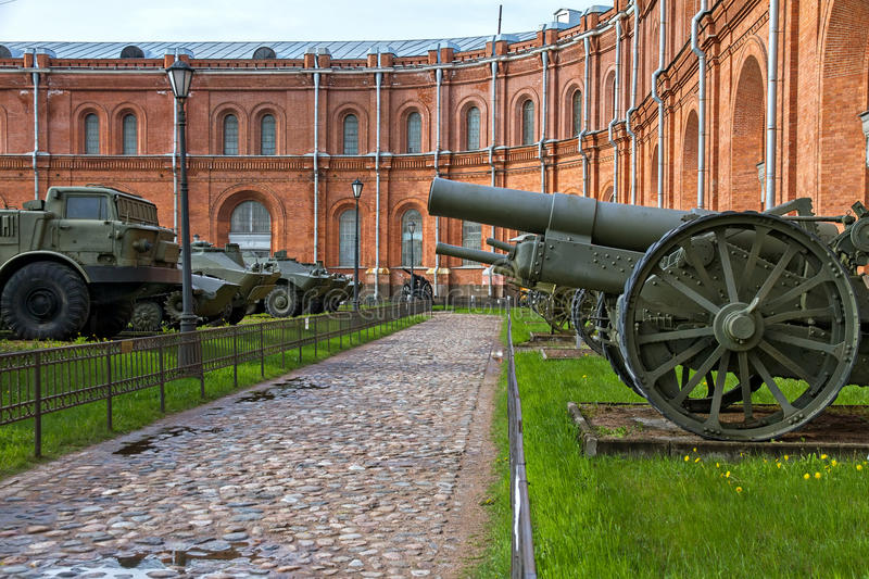 Military equipment in the outdoor museum in Saint-Petersburg, Russia. Military equipment in the outdoor history museum of Artillery in Saint-Petersburg, Russia stock photo