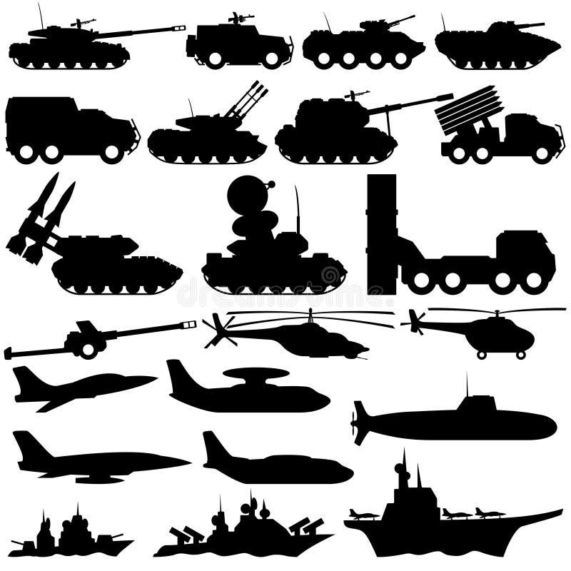 Military equipment. stock illustration