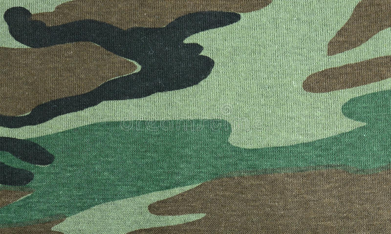 Military fabric background stock image