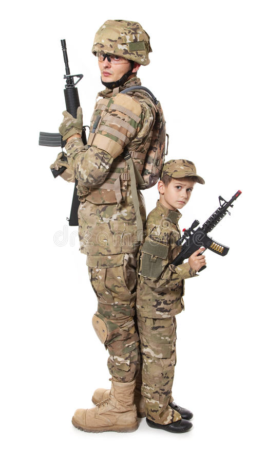 Free Military Father And Son Royalty Free Stock Photography - 17512707