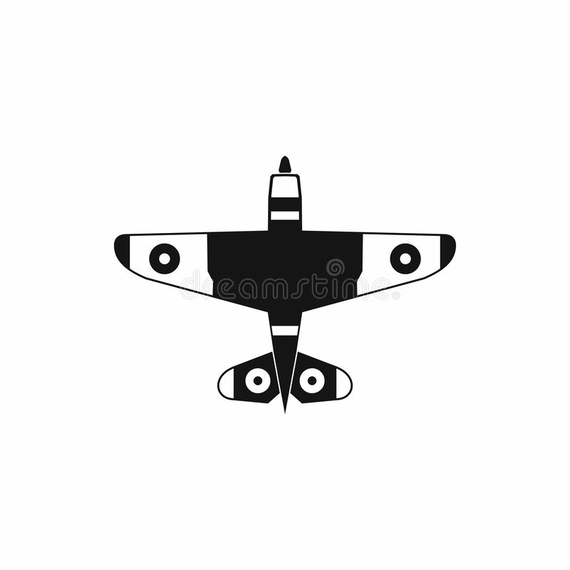 Military fighter jet icon, simple style stock illustration
