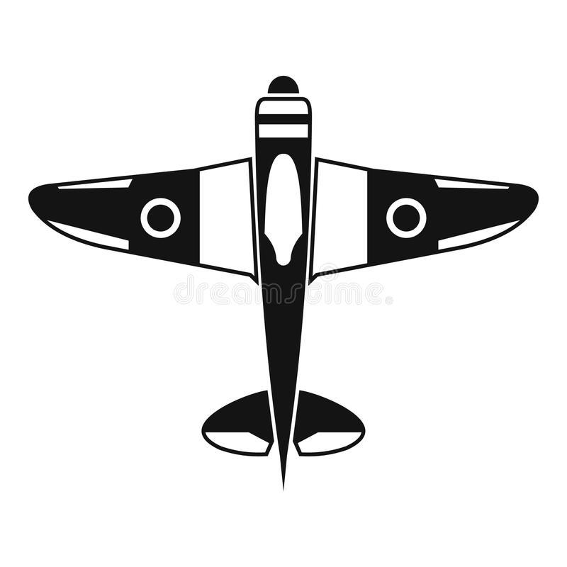 Military fighter plane icon, simple style vector illustration