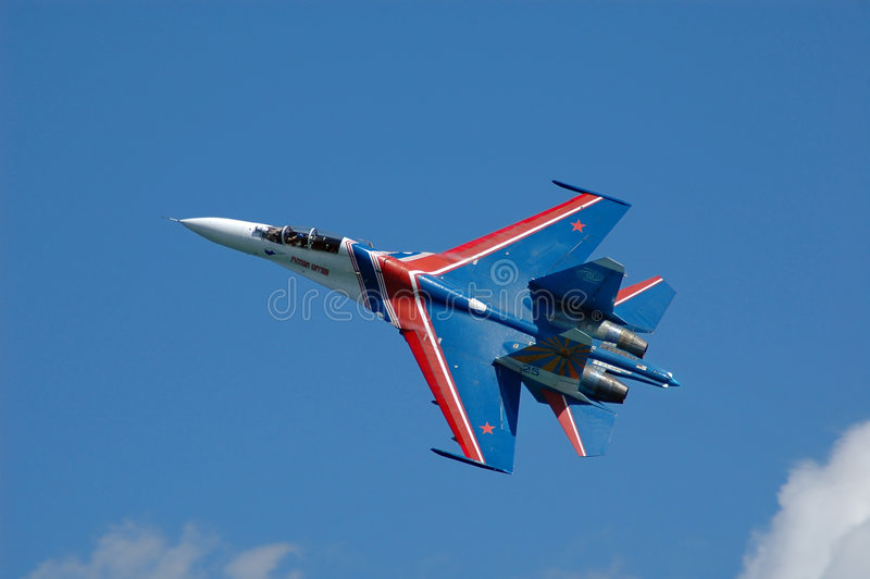 Download Military fighter su-27 stock image. Image of wings, blue - 1931369