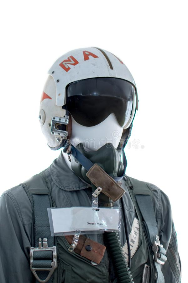 Military flight suit gear close up royalty free stock images