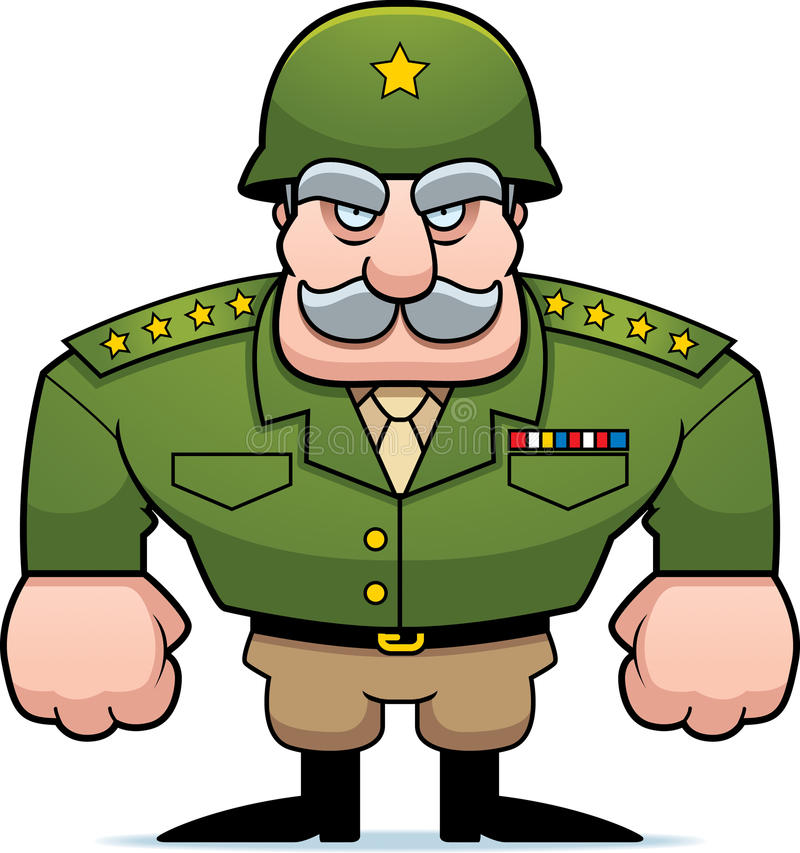 Military General vector illustration