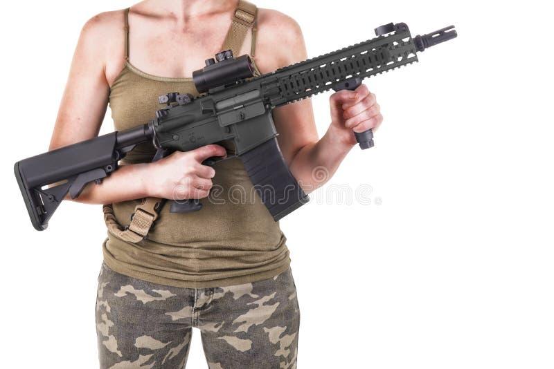 Military girl stock photography