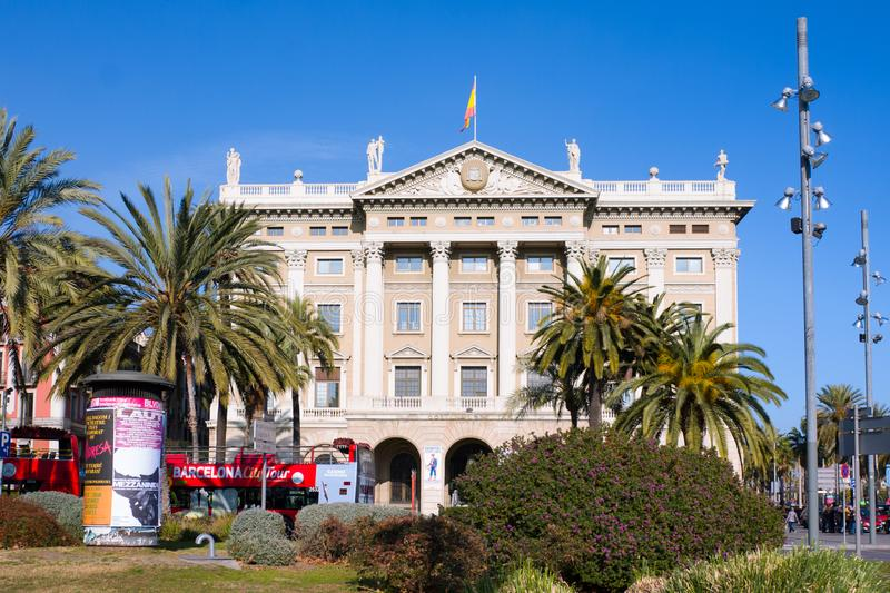 Military Government. Building of the military government Gobierno Militar in Barcelona, Spain stock image