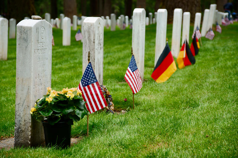 Download Military Grave Stones stock image. Image of marker, joint - 41159141