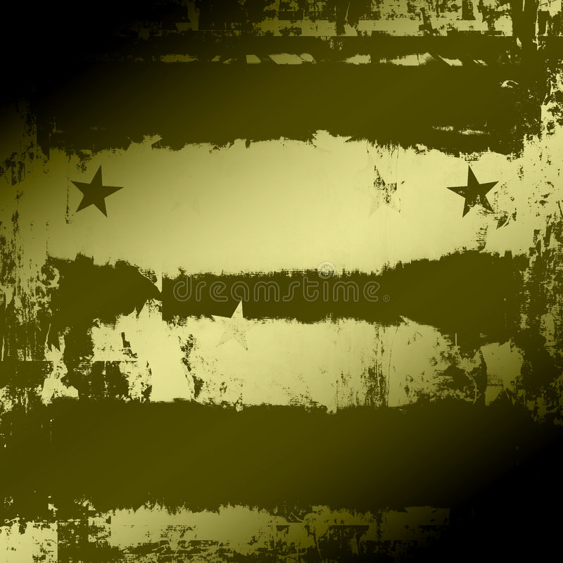 Military Grunge. Army, navy green military style abstract background grunge with stars and stripes