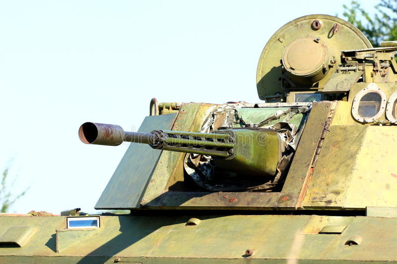 Download Military gun-turret stock image. Image of cannon, steel - 25396435