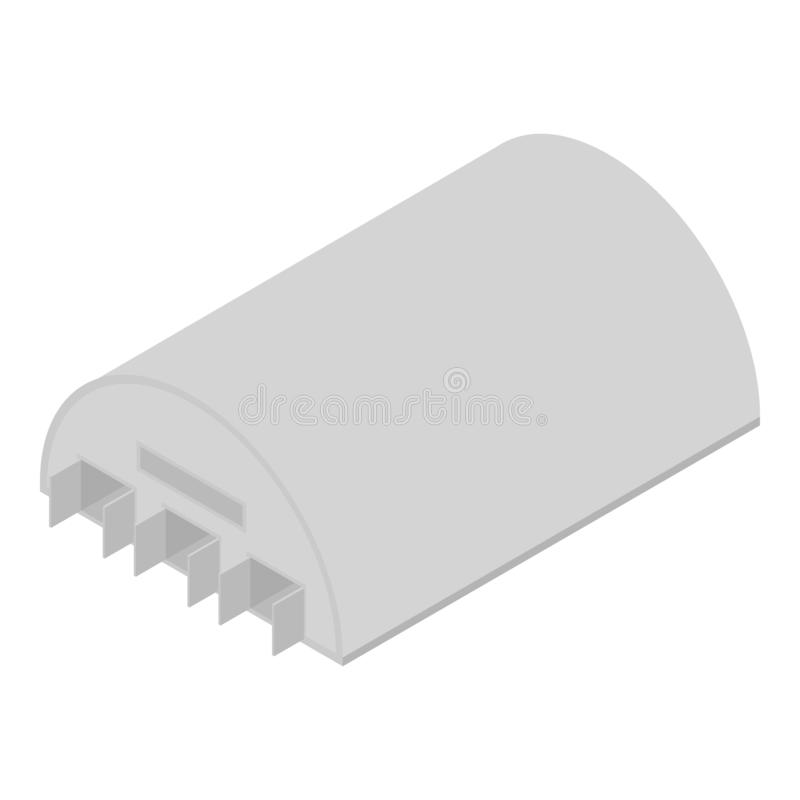 Military hangar icon, isometric style. Military hangar icon. Isometric of military hangar vector icon for web design isolated on white background vector illustration