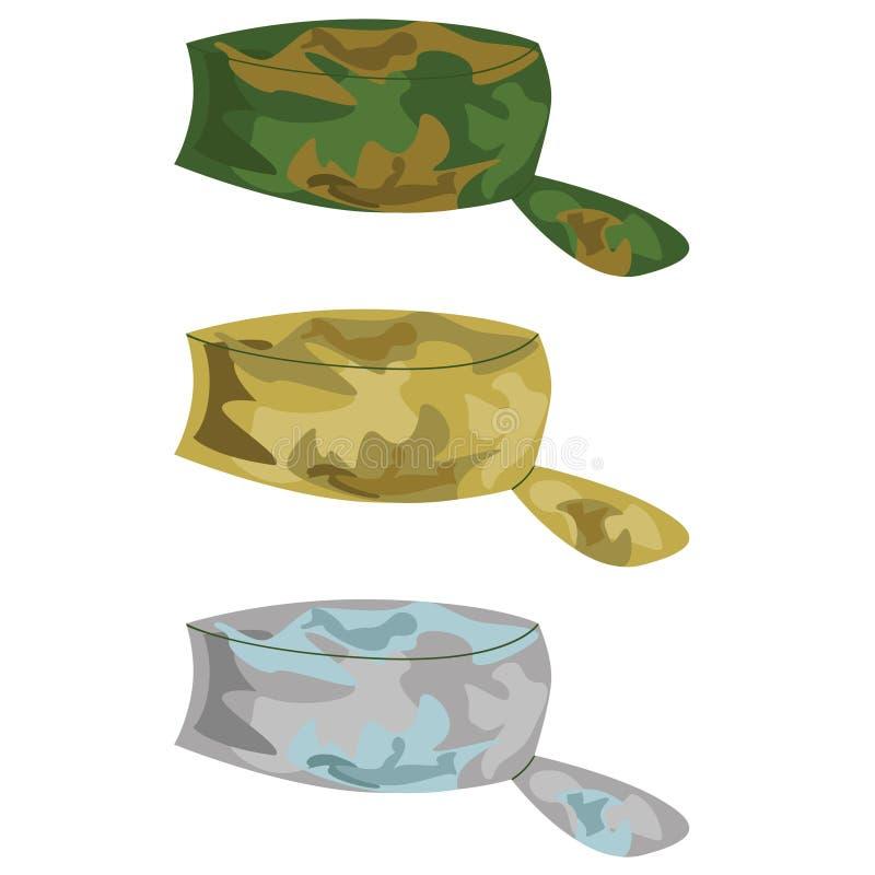Military hats royalty free illustration