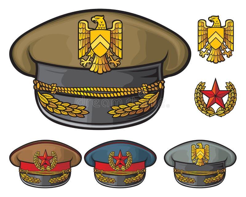Military hats stock illustration