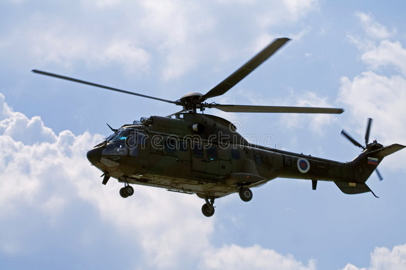 Military helicopter Cougar stock photography