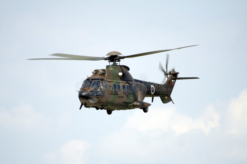 Military Helicopter Cougar Royalty Free Stock Photo