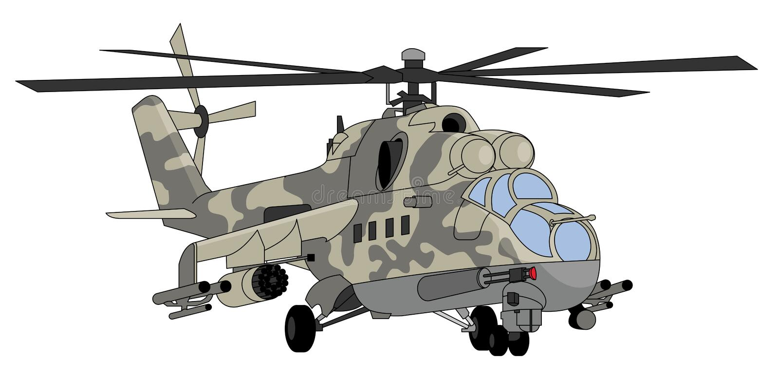 Military helicopter illustration