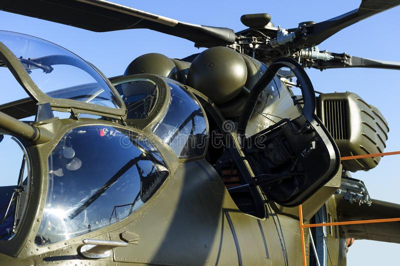 Military helicopter detail royalty free stock image