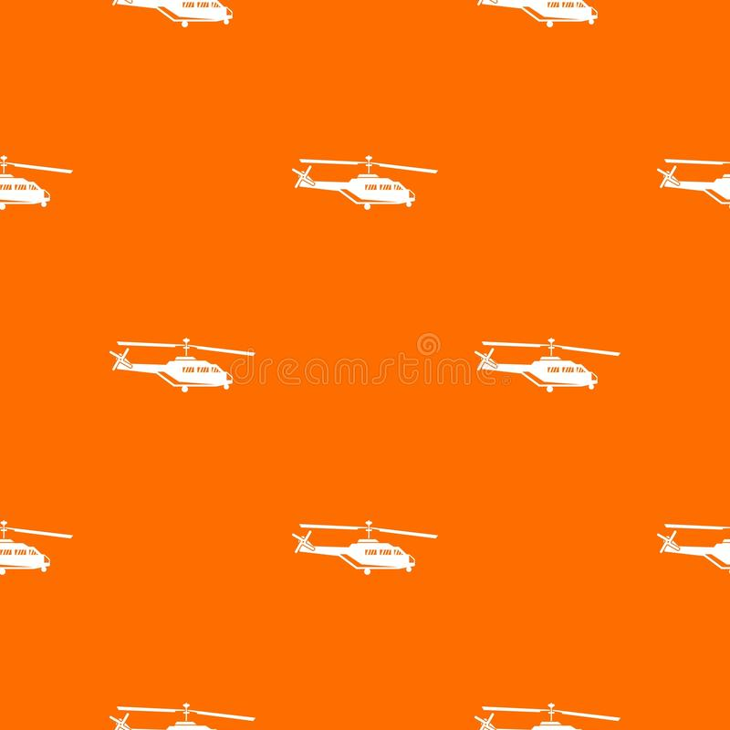 Military helicopter pattern seamless. Military helicopter pattern repeat seamless in orange color for any design. Vector geometric illustration stock illustration