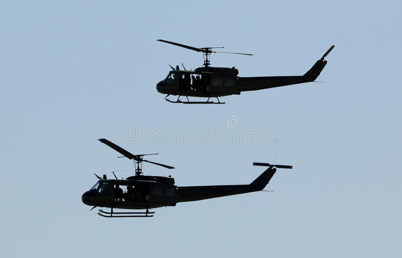 Military helicopters royalty free stock image