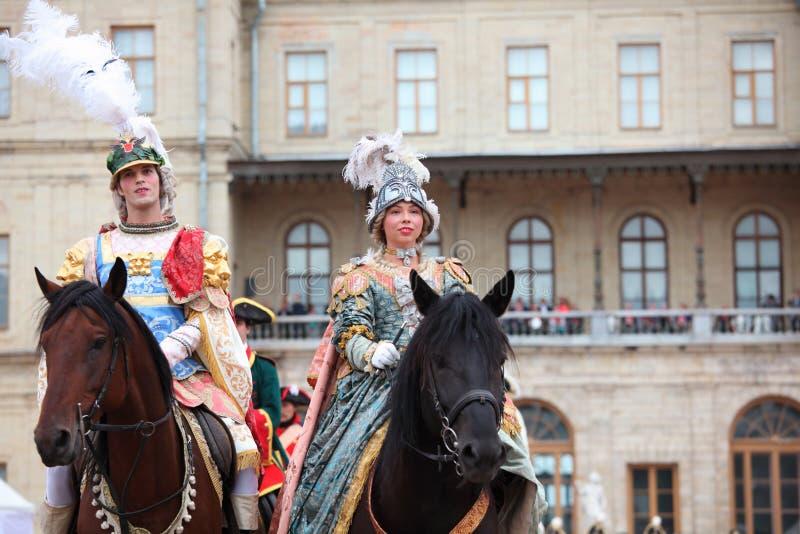 Military historical festival Gatchinskaya Byl royalty free stock photography