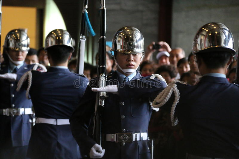 Military honor guard(1)-Republic of China stock image