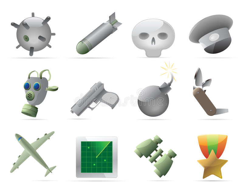 Download Military icons stock vector. Illustration of design, sign - 17830510