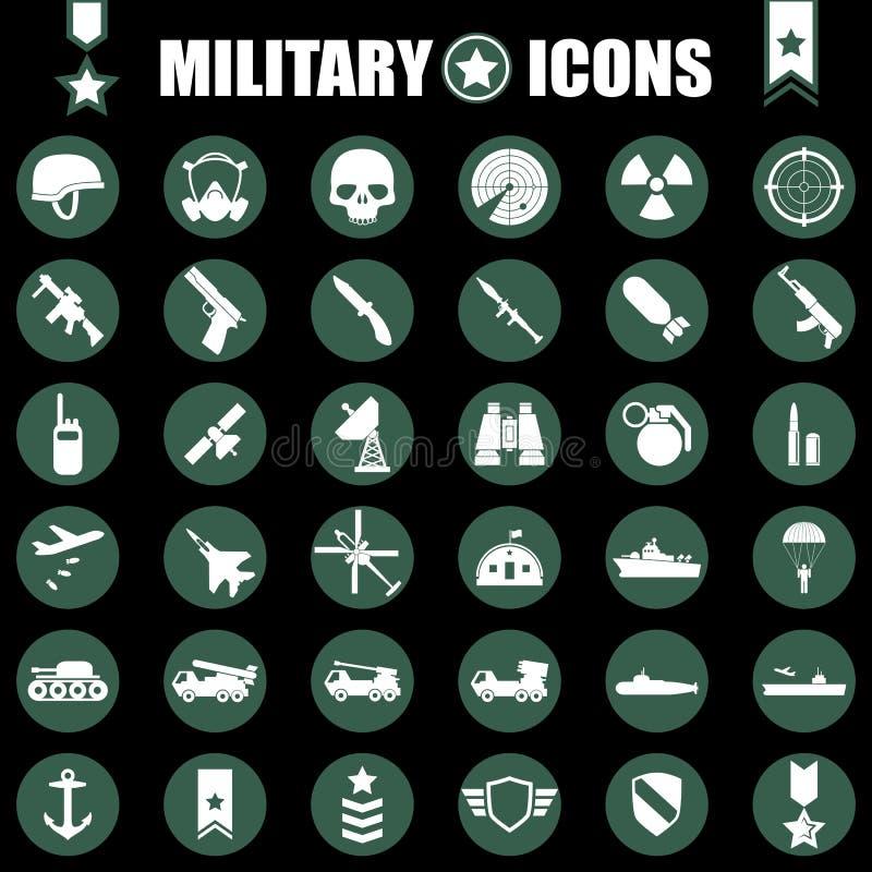 Free Military Icons Set Royalty Free Stock Photos - 43896288