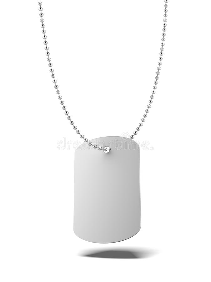 Download Military ID tag stock illustration. Image of necklace - 32658713