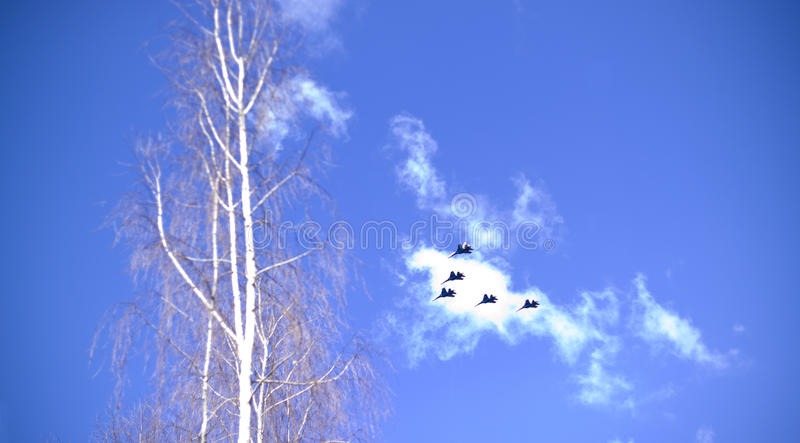 Military Jet Fighters Royalty Free Stock Images