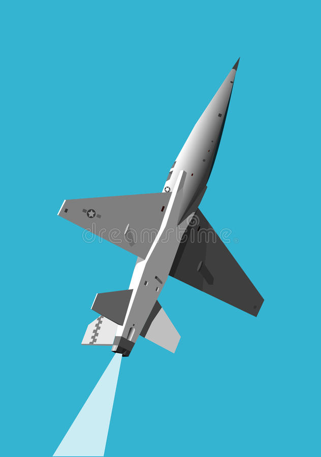 Military Jet Gaining Height Stock Photography